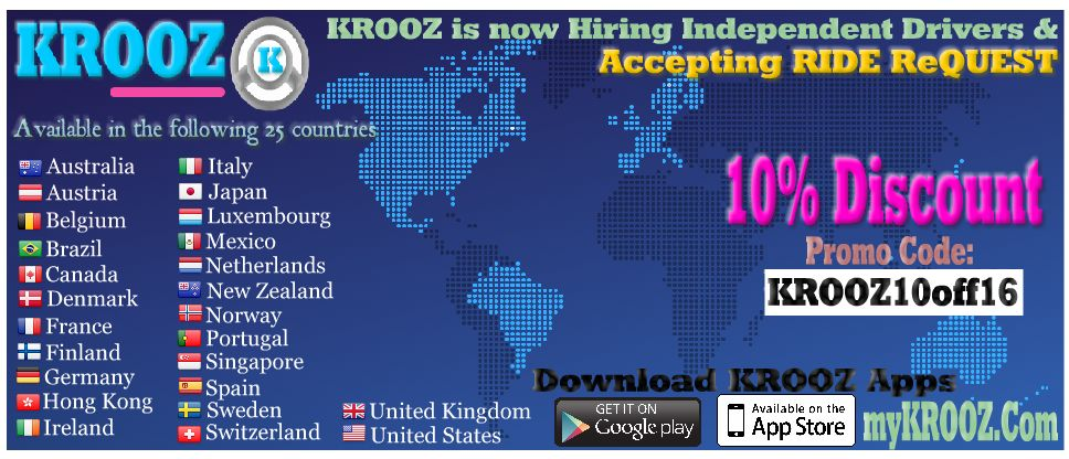 KROOZ available in 25 countries